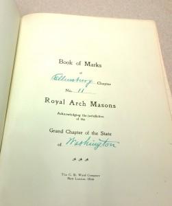 mark book inside